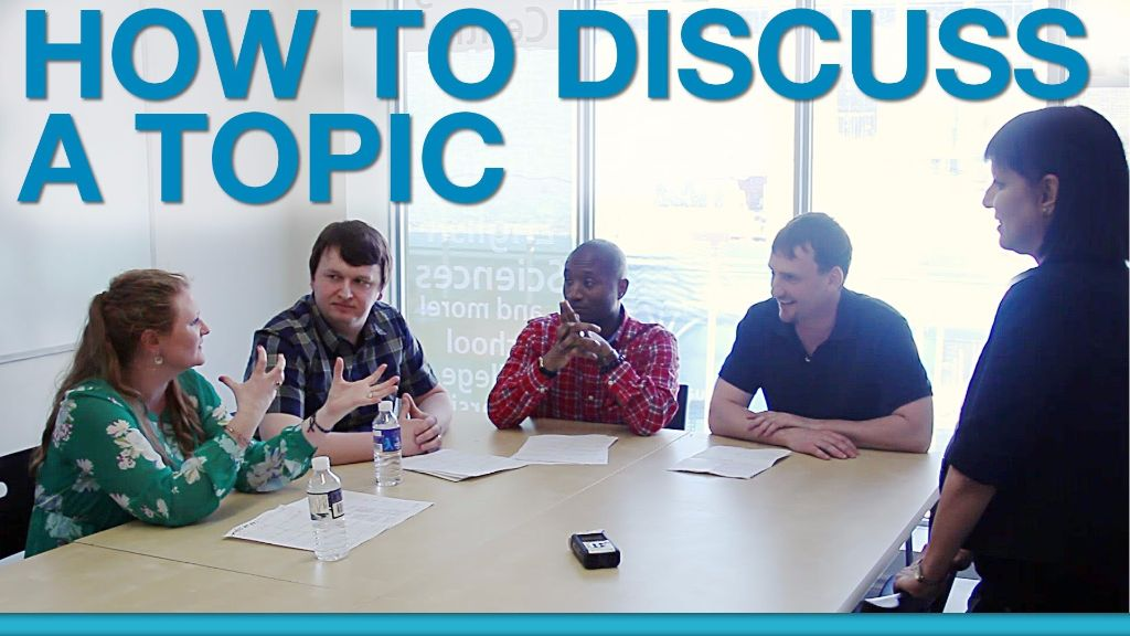 how to discuss a topic