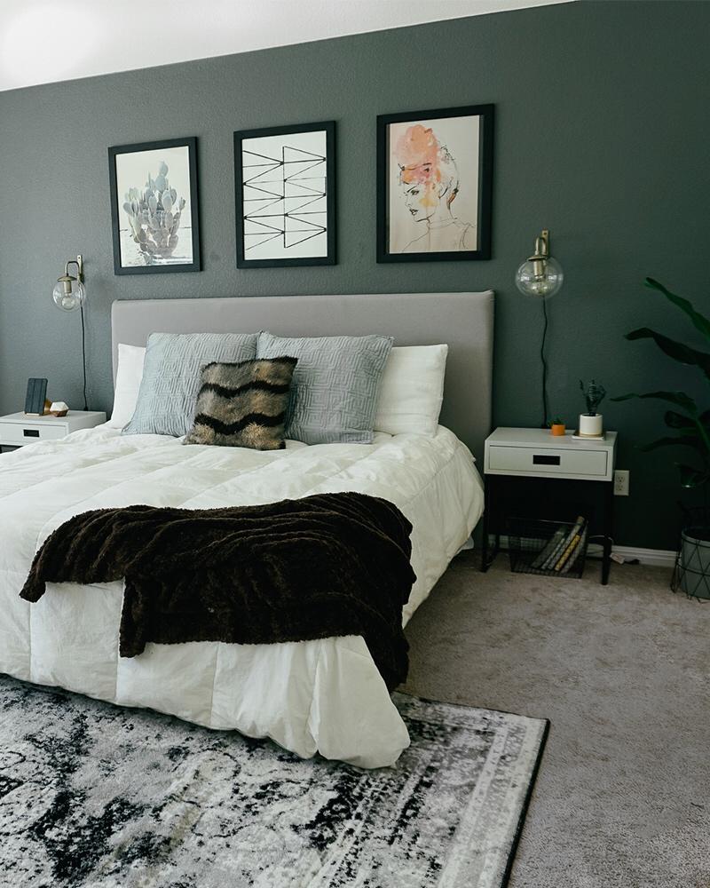 Bohemian Meets Mid Century Modern Bedroom Decor - Citizens ... on Modern Bohemian Bedroom Decor  id=48696