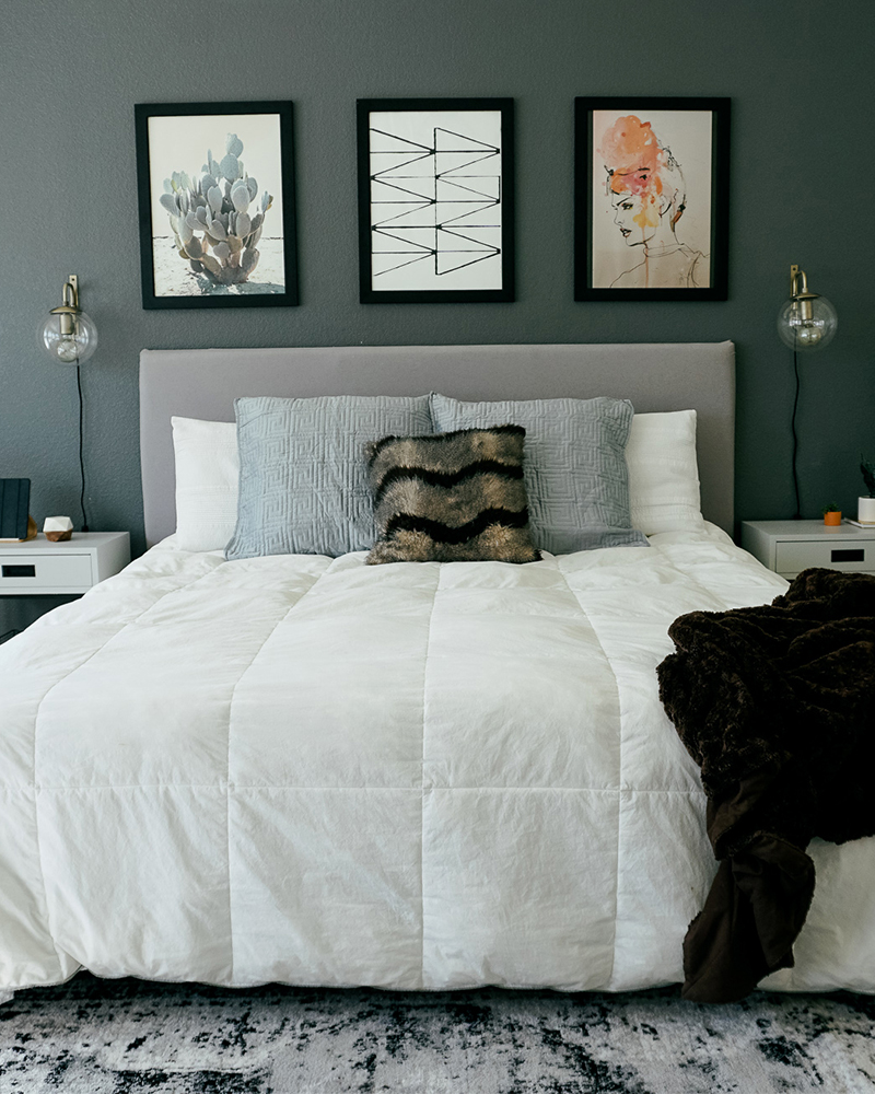 Bohemian Meets Mid Century Modern Bedroom Decor - Citizens ... on Modern Bohemian Bedroom Decor  id=50284
