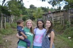 Aler, Ellie (volunteer), Ivania, and Quiriat (volunteer)
