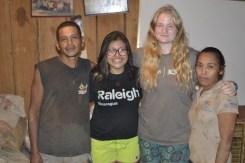 Vidal, Katia (volunteer), Lauren (volunteer), & Elba