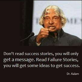 Success stories VS Failure stories