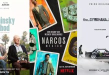 ©Netflix ©Amazon Studios The Kominsky Method Narcos Mexico The Gymkhana Files Serien Trailer Time