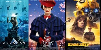 ©Warner Bros Entertainment ©The Walt Disney Company Germany GmbH ©Paramount Pictures Germany Aquaman Mary Poppins Rückkehr Bumblebee Kino Trailer Time