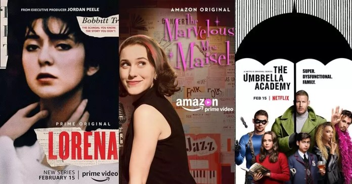 ©Amazon ©Netflix Lorena the marvelous mrs maisel the umbrella academy serien trailer time