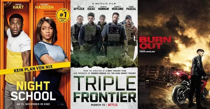 ©Universal Pictures ©Netflix Night school triple frontier burn out film trailer time