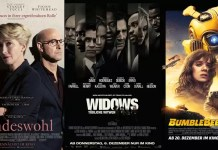 ©Concorde Filmverleih ©20th Century Fox ©Paramount Pictures Kindeswohl Widows Bumblebee Film Trailer Time
