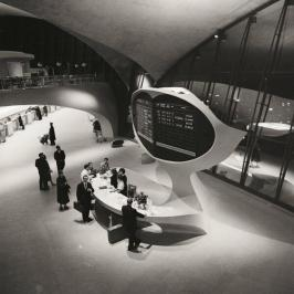 Bureau d'information du terminal TWA, Aéroport JFK, 1956