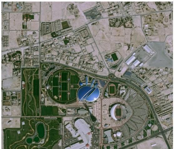Citra Satelit Pleiades - Aspire Zone (Doha Sports City), Qatar. (c) ASTRIUM