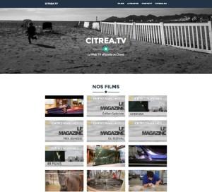 Notre Web TV portfolio (WordPress et Bootstrap)