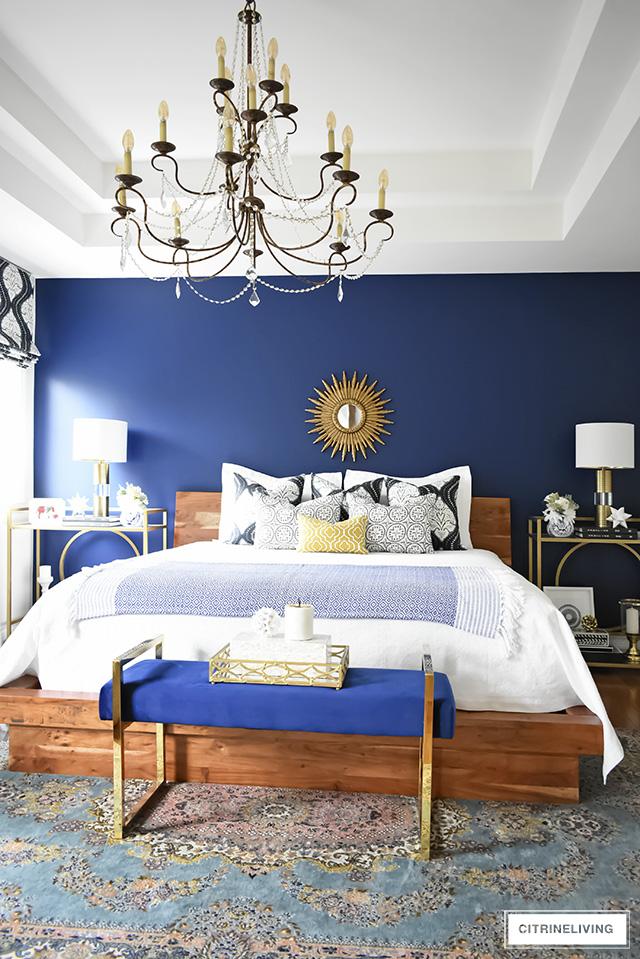 A GORGEOUS BOHO-GLAM BEDROOM MAKEOVER! on Modern Boho Bed Frame  id=97693