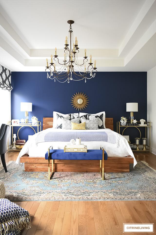 A GORGEOUS BOHO GLAM BEDROOM MAKEOVER! on Boho Master Bedroom Ideas  id=72698