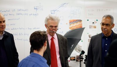 Chancellor Dirks and EVCP Steele Visit the Marvell NanoLab and CITRIS Invention Lab