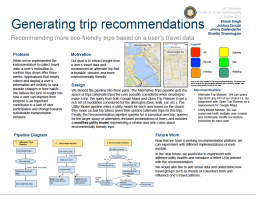 Generating Trip Recommendations