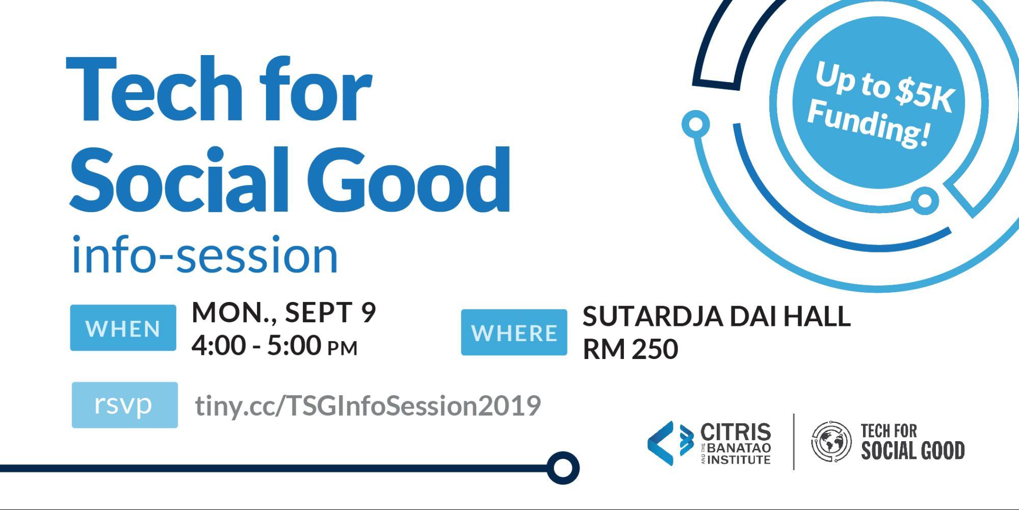 CITRIS Tech for Social Good Info Session