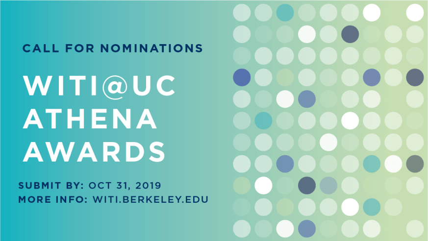 WITI@UC Athena Awards - Call for Nominations