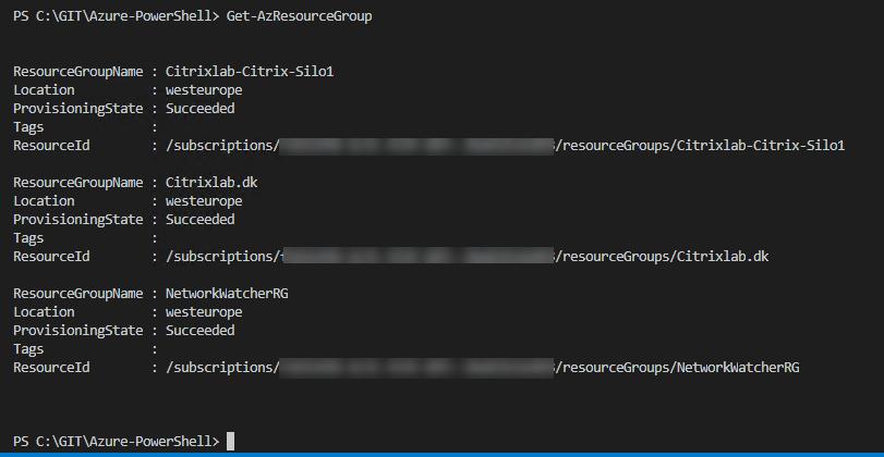 Microsoft Azure and AZ PowerShell Module – Citrixlab dk