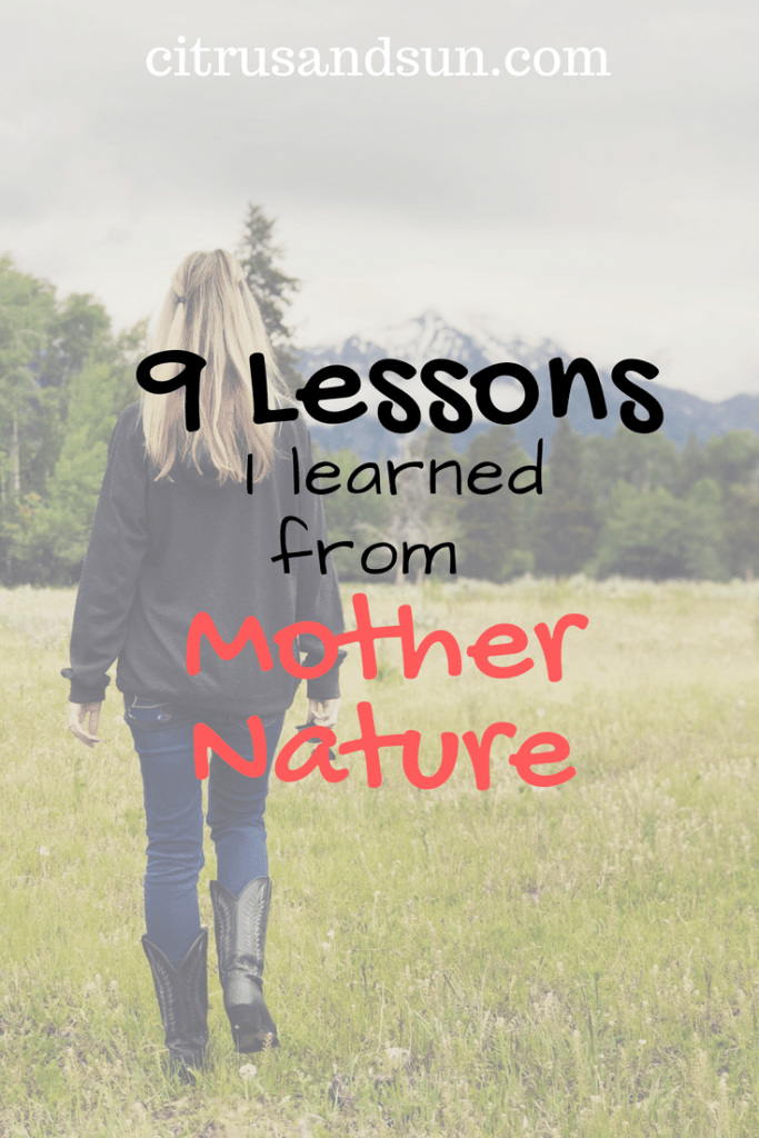 Lessons From Mother Nature