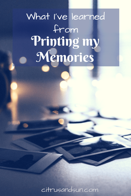 Printing out photographs allows us to experience the image in a different way! In this post I am talking about why I will go back to printing out my memories!