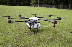 Figure 2. A drone may be used to deliver spot treatments.