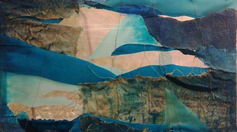 DESPINA - tecnica mista (carta, plastica, juta, vetro e stoffa) - cm. 104 x 60