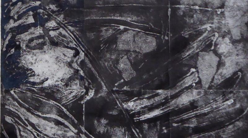 MAURILIA - collografia - 2 x cm. 112 x 38