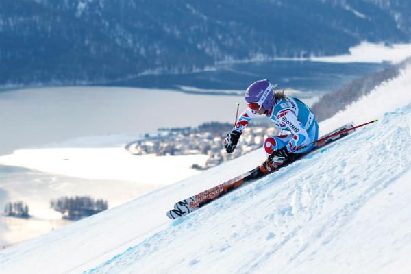 Skiing in St Moritz
