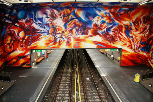 Hankar metro station in Brussels