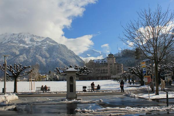 Interlaken ski resort Switzerland