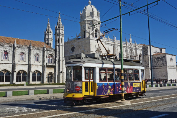 Tram sightseeing in Lisbon