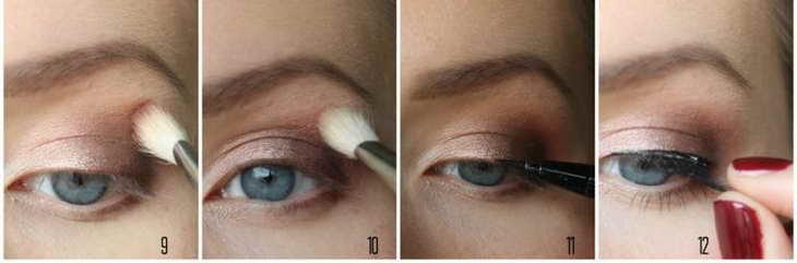 चरणों में छाया के साथ आंखों को कैसे चित्रित करें