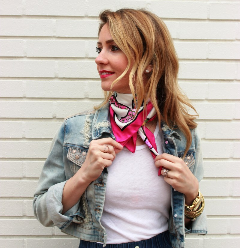 silk-neck-scarf-denim-jacket