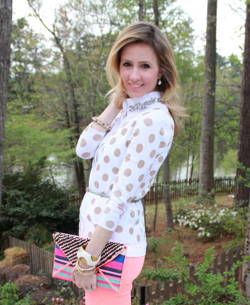 polka-dot-cardigan-neon-denim