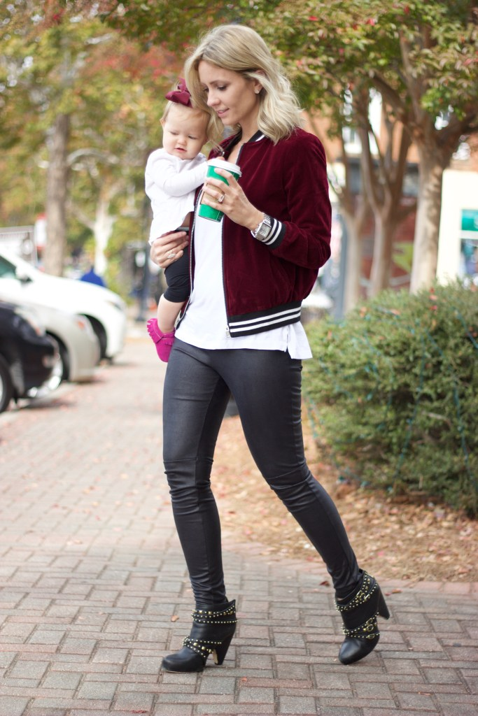Velvet Bomber And A Go-To Mini Me Outfit