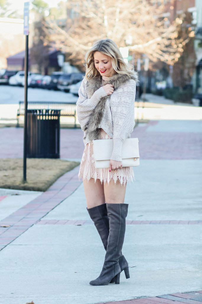 New-years-eve-outfit-blush-free-people-mini-dress-over-the-knee-boot-city-peach