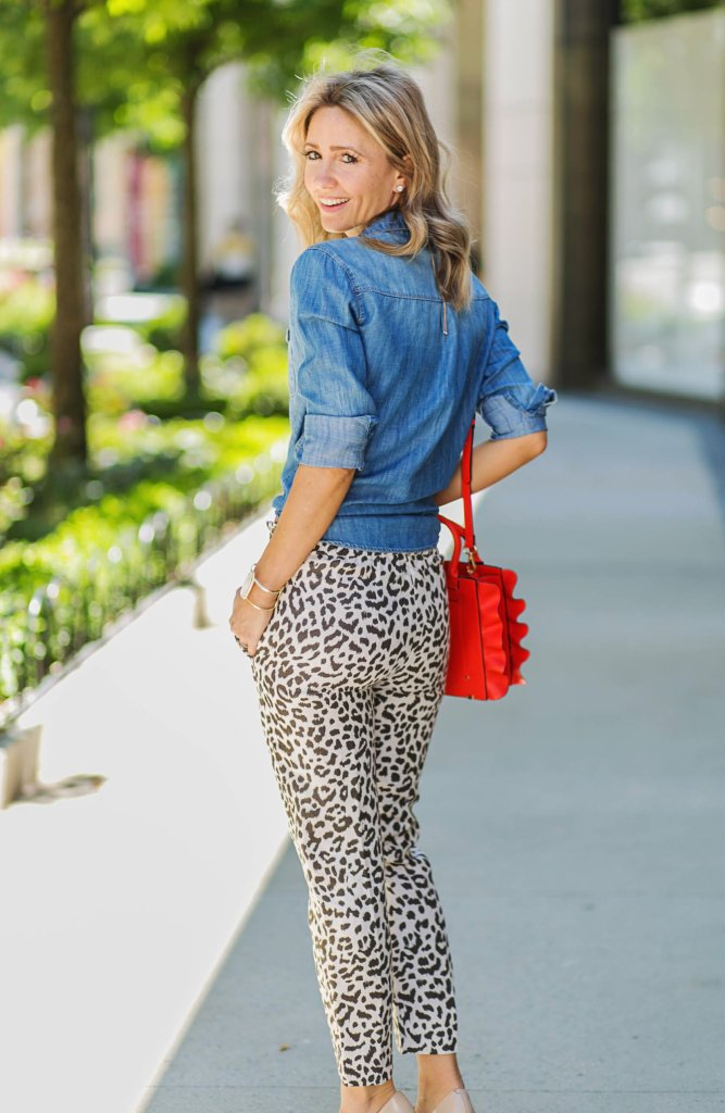 leopard-pants-j.crew-chambray-top-city-peach