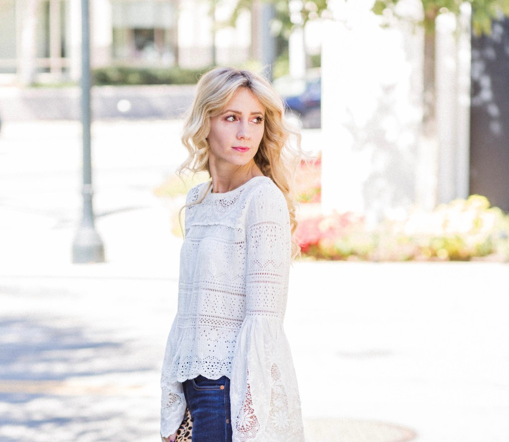free-people-bell-sleeve-eyelet-sweater-madewell-high-waist-jeans-city-peach