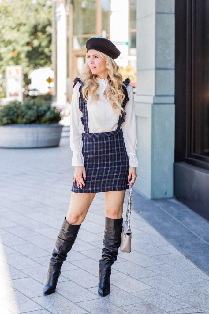 ruffled-suspender-skirt-beret-slouchy-boots-city-peach
