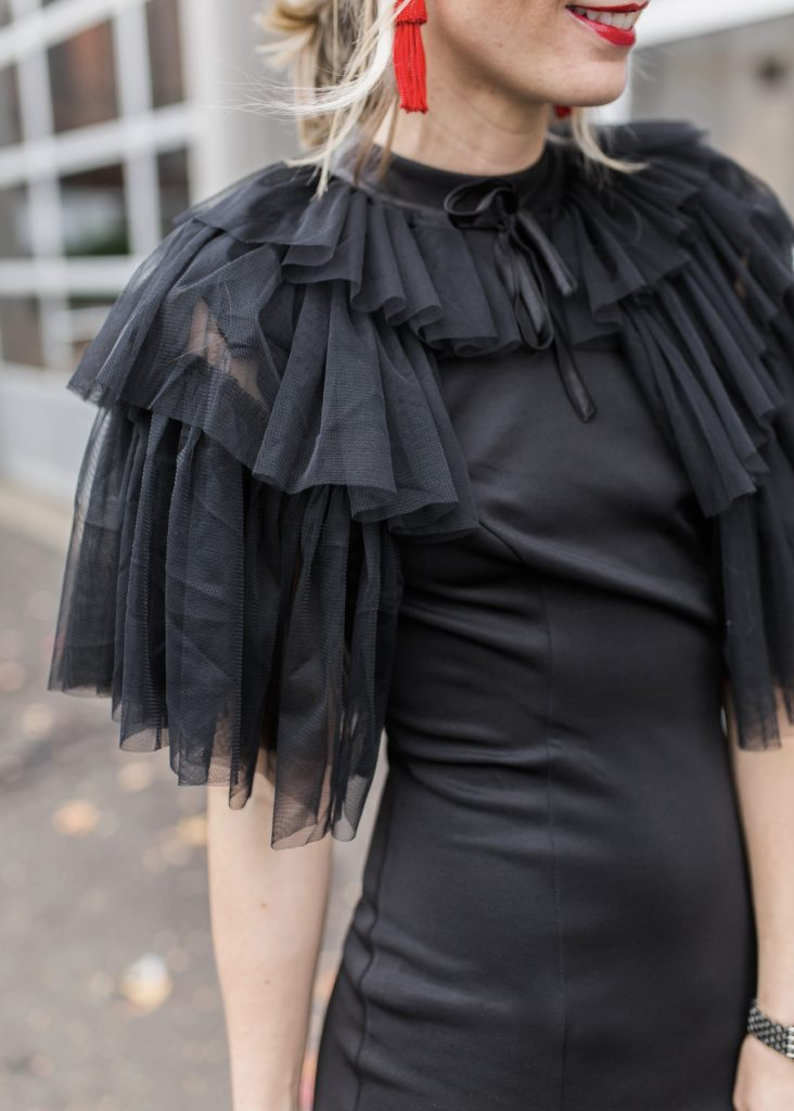 little-black-dress-midi-tulle-cape-new-years-eve-city-peach