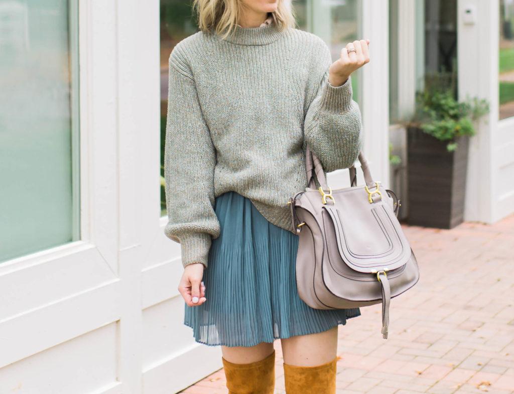 balloon-sleeves-slouchy-sweater-overtheknee-boots-monochromatic-city-peach