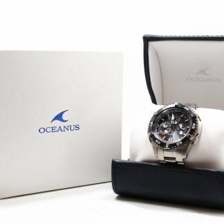 高雄青蘋果3c收購二手CASIO OCW-P500TDA-1A1CR 太陽能電波時計OCEANUS精密時計