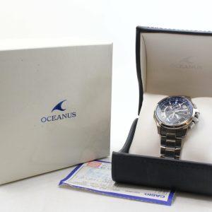 高雄青蘋果3c買賣收購二手CASIO OCEANUS 計時電波休閒腕錶