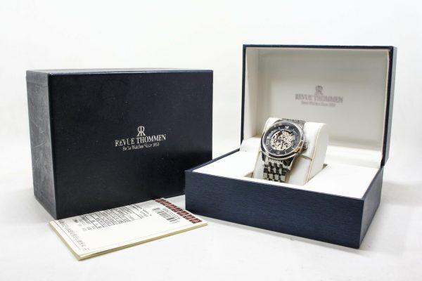 高雄青蘋果3c專業收購二手梭曼 Revue Thommen 浮華世紀鏤空機械腕錶