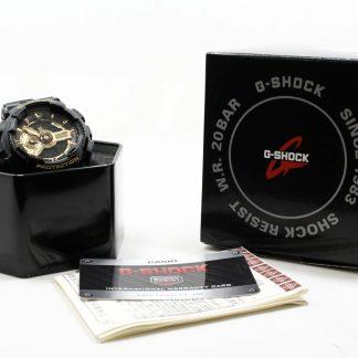 高雄青蘋果3c現金收購CASIO 卡西歐 G-SHOCK 黑金重機雙顯錶