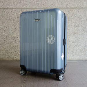 台中文心路收購二手德國 RIMOWA Salsa Air 四輪登機箱 冰藍色 820.53.78.4