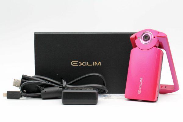 高雄青蘋果3C收購二手Casio TR-60 TR60 桃紅色 自拍美顏相機