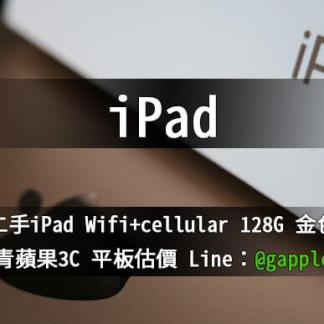 ipad wifi cellular 128G 金色