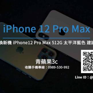 Apple iPhone 12 Pro Max 512G 太平洋藍色