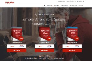 Cupom McAfee Total Protection 52% off