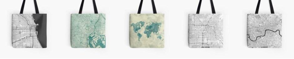 Tote Bag Map
